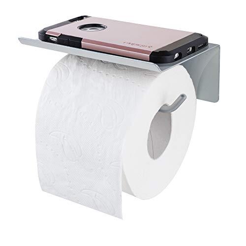 ALWERE selbstklebender Toilettenpapierhalter mit Ablage OHNE BOHREN Klopapierhalter Rollenhalter