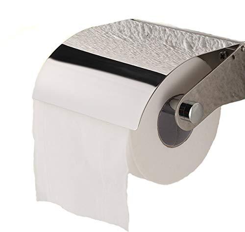 Toilettenpapierhalter Ablage mit Deckel Klopapierrollenhalter Wand montierter Rollenpapierhalter Wasserdichter Edelstahl für Küche und Badzimmer