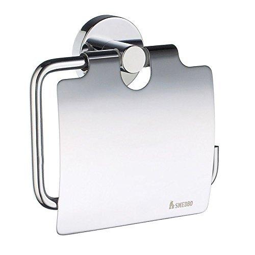 Smedbo Home Toilettenpapierhalter mit Deckel, Silber