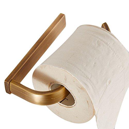 CASEWIND Messing Toilettenpapierhalter Klorollenhalter, Europäisch Rund Oval Rostfrei Antik Bohren Papierhalter für Toiletten Wand