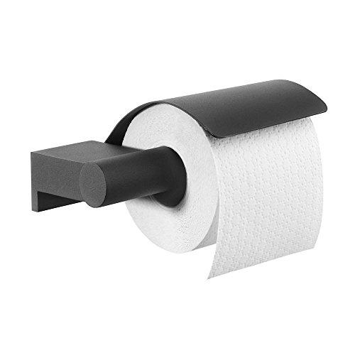 Tiger Bold toiletrolhouder + klep zwart