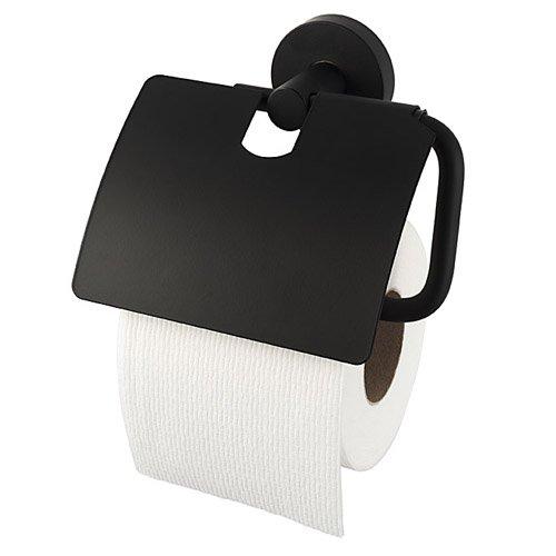 Haceka Kosmos Black 1142257, Papierrollenhalter mit Deckel