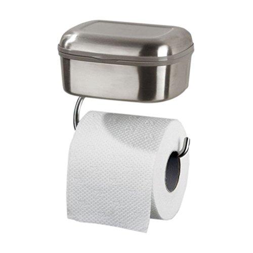 toilettenpapierhalter f r feuchtt cher wc rollenhalter mit feuchtbox. Black Bedroom Furniture Sets. Home Design Ideas