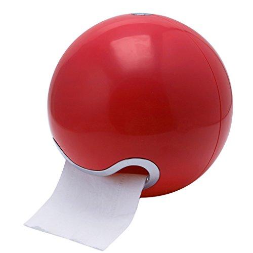 NNGUBIU Toilettenpapierhalter zur Wandmontage, stilvoller und niedlicher Look, rot, 18x16cm(Dia.xH)