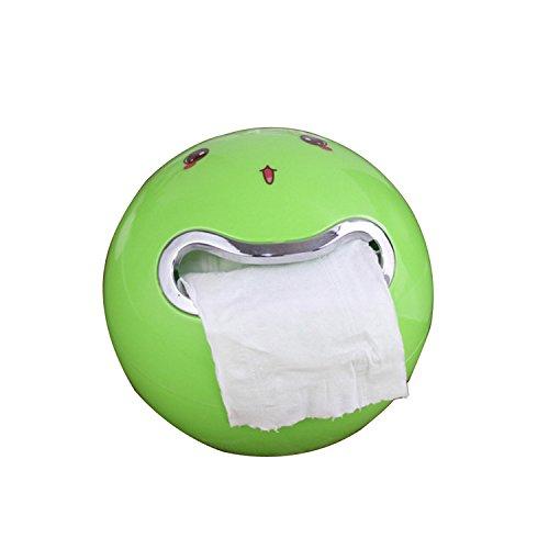 Toilettenpapier Handtuchbox Toilettenpapierhalter Bad Toilettenpapier Toilettenkasten Mehrfarbe für Bad und Küche (Grün)