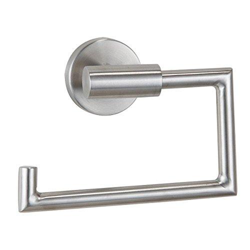 axentia Toilettenpapierhalter aus Edelstahl - WC Rollenhalter Wand inklusive Befestigung - Design Klopapierhalter zur Wandbefestigung im Bad, modern & elegant
