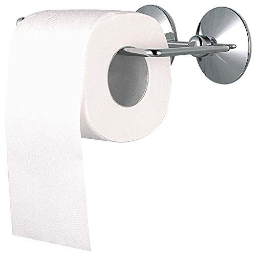 MSV 140326 WC-Rollenhalter Toilettenpapierhalter mit Saugnapf ohne Bohren 17,5 x 9 x 3 cm