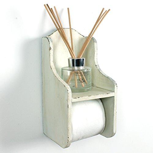 Boutique Toilettenpapierhalter, Holz weiß