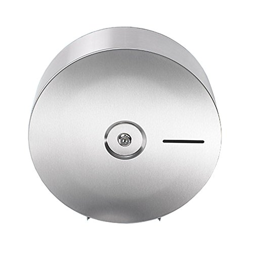 Sanixa EMA847-SS Qualitäts Toilettenpapier-Spender für 1 Jumbo Rollen | Wand-Montage | Edelstahl rostfrei | WC Papierrollenhalter Halter