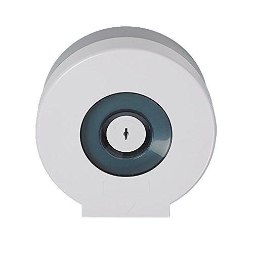 Sanixa EMA862-W Qualitäts Toilettenpapier-Spender Weiß für 1 Jumbo Rollen | Wand-Montage | ABS Kunststoff | WC Papierrollenhalter Halter