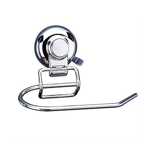 FUNRUI Toilettenpapierhalter mit Saugnapf SUS304 Edelstahl Toilettenrollenhalter Ohne Nohren WC-Rollenhalter Papierhalter Wandrollenhalter Klopapierhalter Chrom