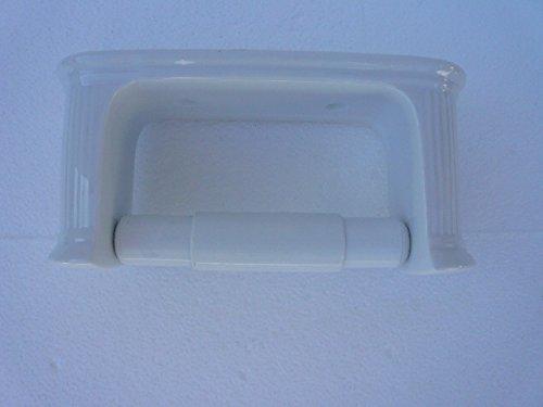 Unbekannt Toilettenpapierhalter aus Porzellan gerillt weiß