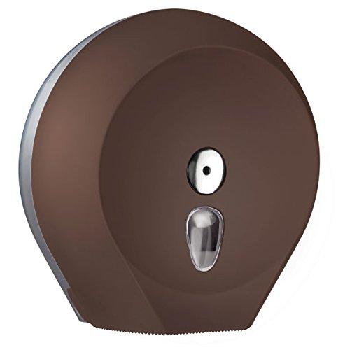 Toilettenpapierspender Wandmontage Braun für Großrolle - Sichtfenster - abschließbar