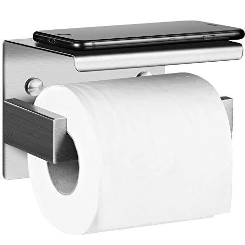 Aikzik Selbstklebend Toilettenpapierhalter, Toilettenpapierrollenhalter Edelstahl Ohne Bohren Klopapierhalter Zur Wandmontage für Küche und Badzimmer