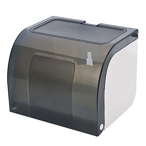 MagiDeal Hochwertiger Toilettenpapierhalter WC-Papierhalter Kunstoff WC Papier Halter mit Deckel