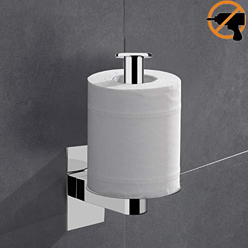 Lolypot Toilettenpapierhalter Klopapierhalter Klorollenhalter ohne bohren 304 Edelstahl Spiegel Chrom Selbstklebend Vertical Horizon Beliebige Richtung Papierhalter Rollenhalter Küchenrollenhalter