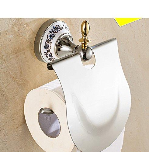 Wandmontage Toilettenpapierhalter,Edelstahl Toilettenpapierhalterung,WC-Papierrollenhalter,Toilettenpapierhalter mit Deckel Wandmontage Badzubehör Dekor,Papierrollenhalter(Chrom)
