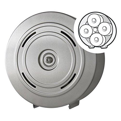 Hochwertiger Toilettenpapierspender Edelstahl - für 4 Kleinrollen - abschließbar