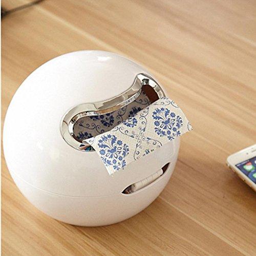 """DOLDOA Kreative Emoji Toilettenpapierhalter Wasserdichte WC-Rollenhalter Klopapierhalter (18,5 x 18,5 cm / 7,28 """"x 7,28"""", Weiß - Toilettenpapierhalter)"""