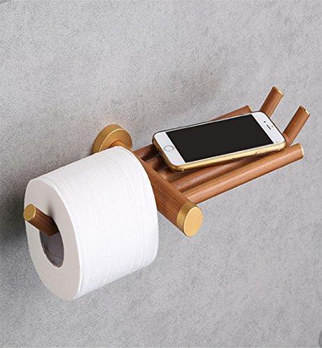 Sucastle® 360*155*49mm Holz Toilettenpapierhalter, Rollenhalter, Wandhalter Rollenhalter aus Hochwertigem Papierhalter