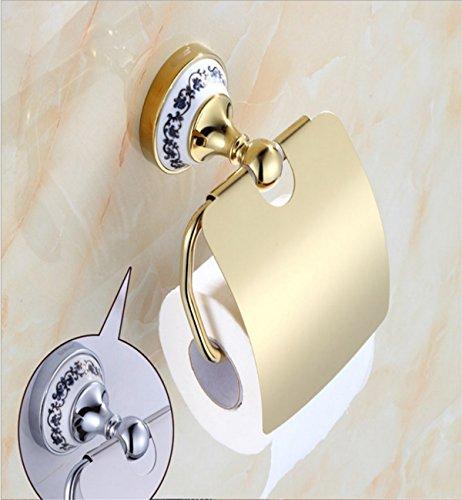 Sucastle® 13*10*16(cm) Kupfer Toilettenpapierhalter, Rollenhalter, Wandhalter Rollenhalter aus Hochwertigem Papierhalter