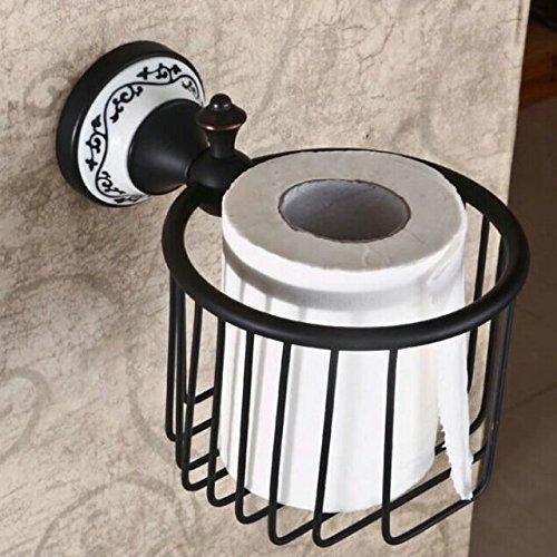 Hiendure® Wandmontage Antik Messing Papierhalter Korb Toilettenpapierhalter WC-Papierrollenhalter