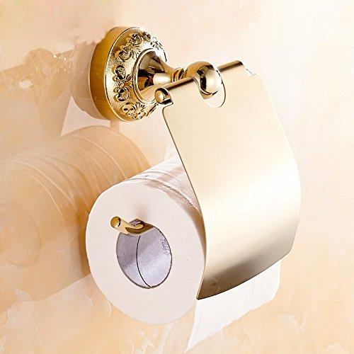 Surnoy Papier-Handtuchhalter, geschnitzt, Roségold, Papierhalter, Badezimmer-Anhänger