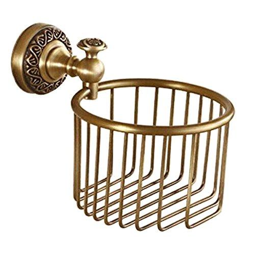 Kelelife WC Rollenhalter Toilettenpapierhalter Messing Klopapierhalter für Badzimmer,Antikes Messing-Finish