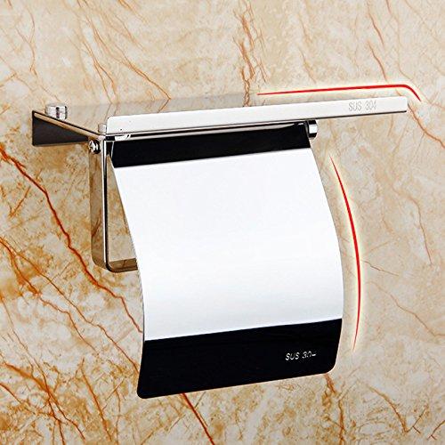 TOOGOO Toilettenpapierhalter mit Regal - Toilettenpapierhalter Toilettenpapierhalter Wandhalterung