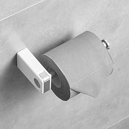 Aimadi Toilettenpapierhalter WC-Papierhalter Klopapierhalter Rollenhalter Wandrollenhalter Rollenhalter Edelstahl Weiß