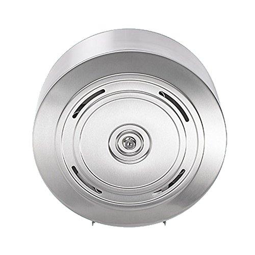 Sanixa EMA848-4-SS Qualitäts Toilettenpapier-Spender für 4 haushaltsübliche Rollen | Edelstahl rostfrei | WC Papierrollenhalter | Klorollen Halter