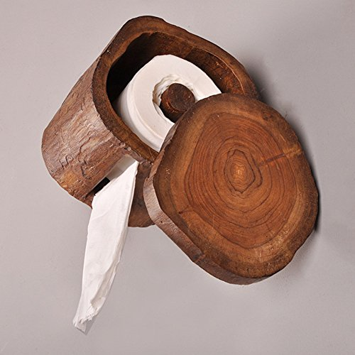 Toilettenpapierhalter / Toilettenpapier-Holz-Mehrzweck-Papierhalter