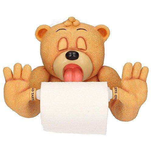 Toilettenpapierhalter Andre X | Bad Taste Bears | Deko Figur Geschenk lustig BTB