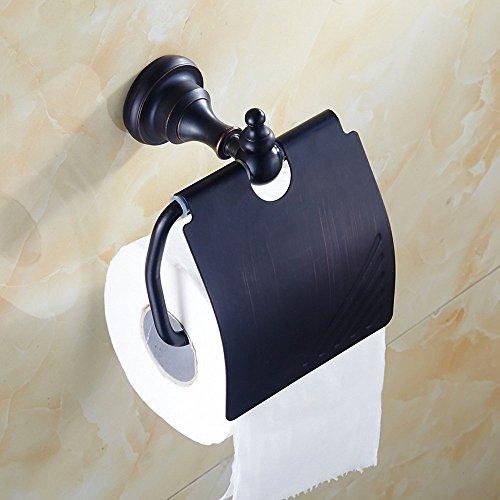 Weare Home Wandmontag Toilettenpapierhalter Klorollenhalter aus hochwertig Messing Öl rubbed Bronze Bohren Retro Vintage Antik Deko Design Badezimmer Zubehör