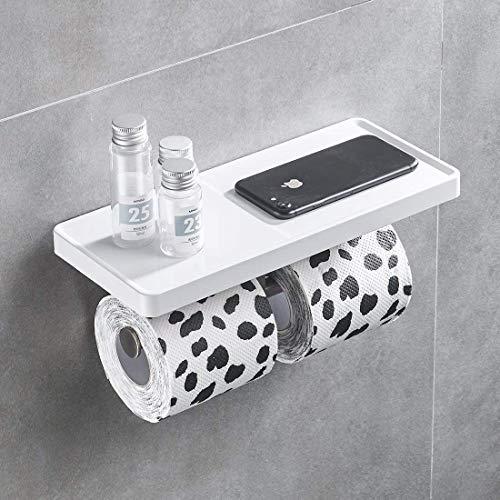 Aimadi Toilettenpapierhalter WC-Papierhalter Rollenhalter Papierrollenhalter Wandmontage Weiß