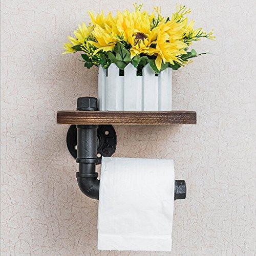 Toilettenpapierhalter, Retro Stil WC Wasser Rohr Haken, Multifunktions-Wand montiert für Hanging Artikel Rack, Handtuchhalter, Papierhalter, WC Wasser Rohr Haken